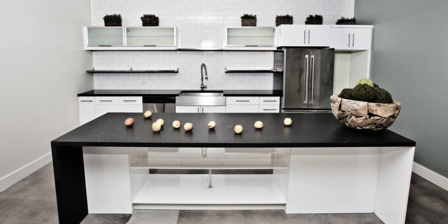 keuken met composiet blad slider